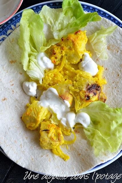 Poulet au safran et au citron (joojeh kabab) جوجه کباب