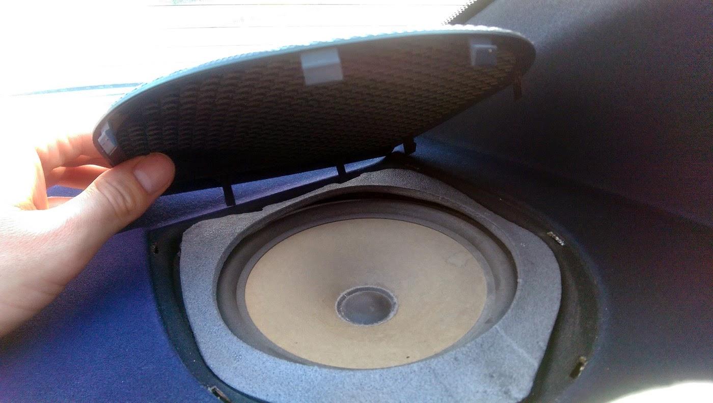 bmw e46 rear speaker fret removed  [ 1400 x 792 Pixel ]
