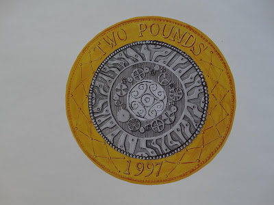 Van Funds Appeal Auction: Royal Mint Print of Two Pound Coin Design