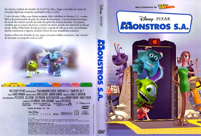 Filme Monstros S.A. DVD Capa