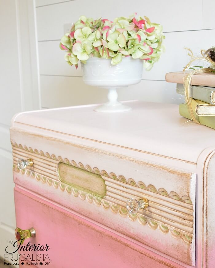 Pink Ombre Waterfall Dresser Top Drawer