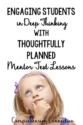 Engaging Students with Mentor Text Lessons starts with strong planning. Check out this post for getting started with them. Freebie included.