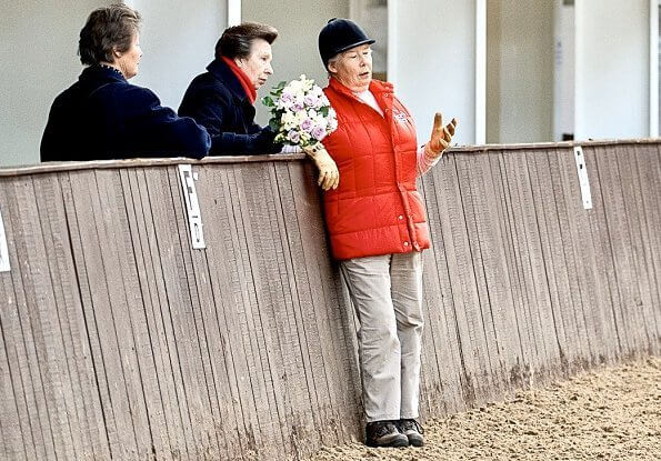 Princess Anne attended the National Coaching Convention at the Addington Equestrian Centre, near Buckingham