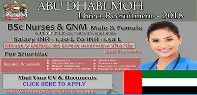 ABU DHABI MOH DIRECT RECRUITMENT-2018
