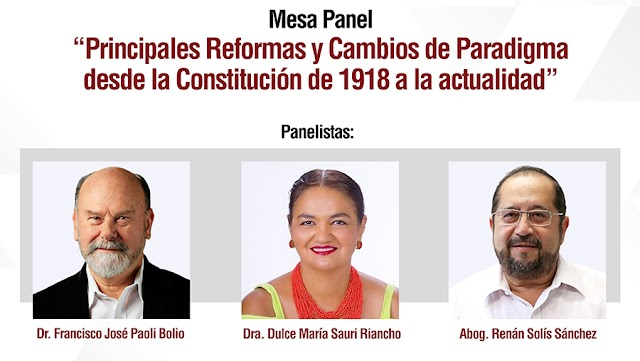 Analizarán las principales reformas de la Constitución de 1918 a la fecha