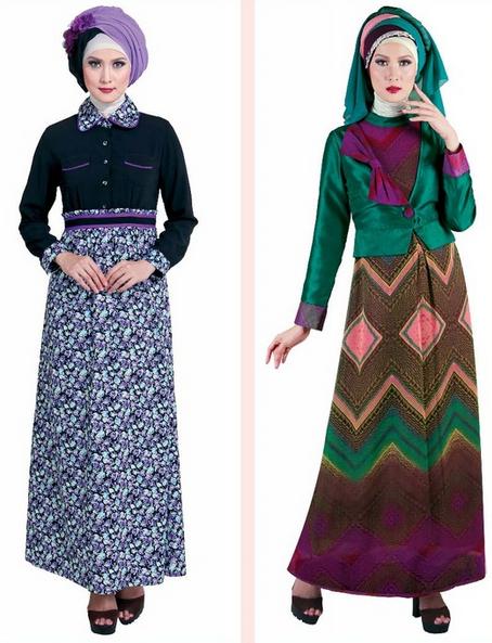 Contoh Model Busana Muslim Gamis Paling Populer