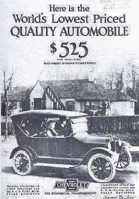 Climbing My Family Tree: 1922 Chevrolet Touring Car Advertisement