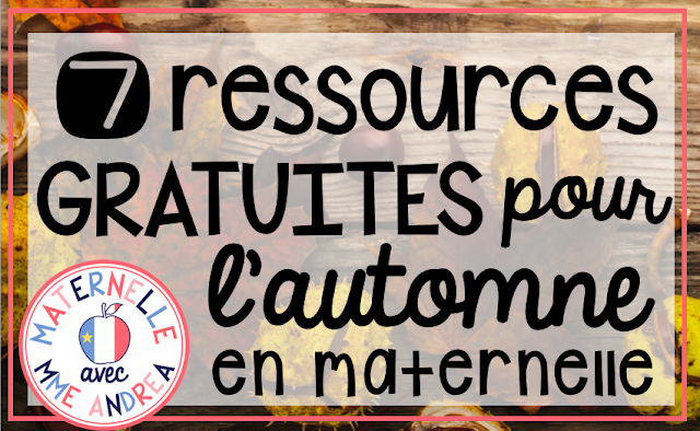 Looking for some French freebies for fall in maternelle? Check out this blog post! Includes links to FREE math and literacy activities en français