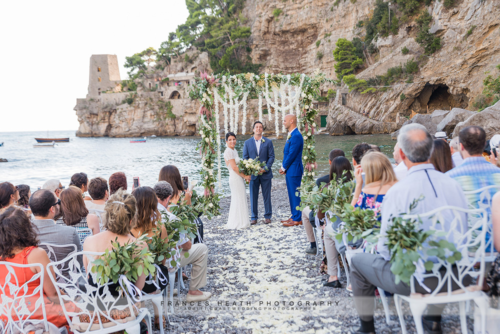 Positano beach wedding ceremony