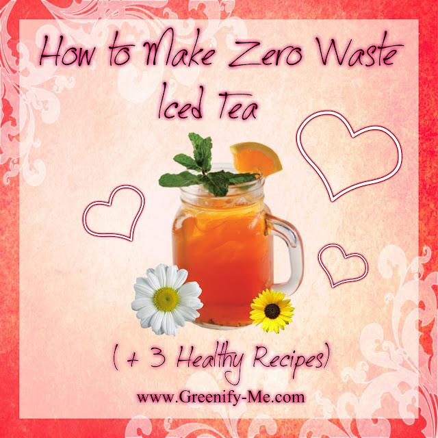 zero waste iced tea