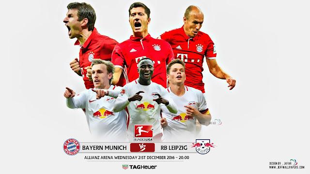 Bayern x RB Leipzig (21/12/2016) - Prognóstico, Horário e TV (Bundesliga)