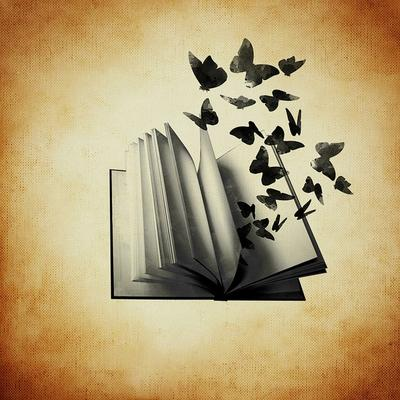 Book and butterflies