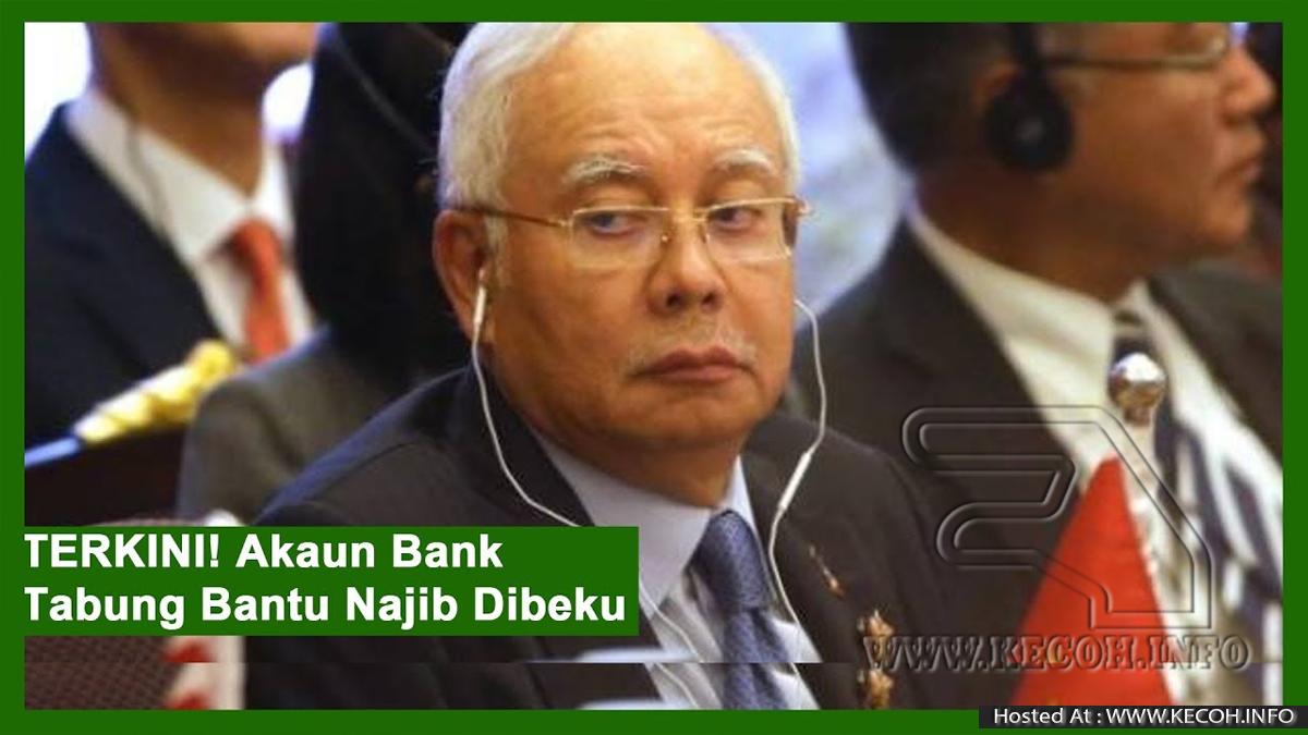Akaun Umno Untuk Kutip Derma Jamin Najib Pula Dibekukan