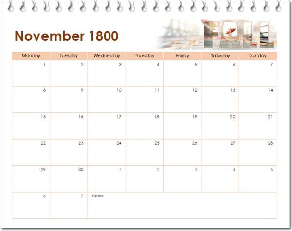 november 1800
