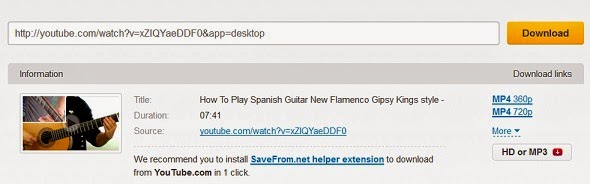 download from youtube savefrom.net