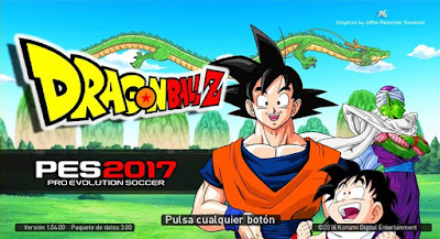 PES 2017 Dragon Ball Z Graphic Menu by JAS