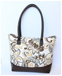 Faux Leather Base Tote Bag