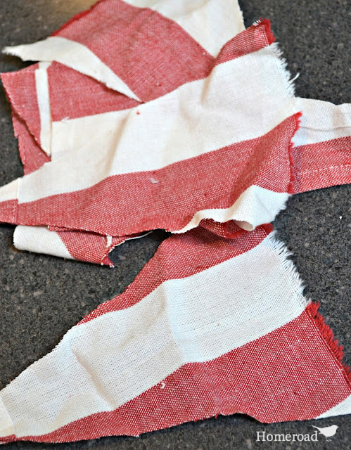 Use scrap striped fabric to create American Flag Garland