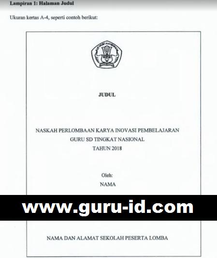 Contoh Karya Inobel Sd 2018 250 Judul Info Pendidikan Terbaru