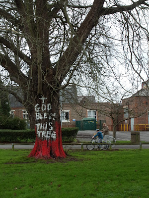 painted tree in st james mental hospital grounds portsmouth