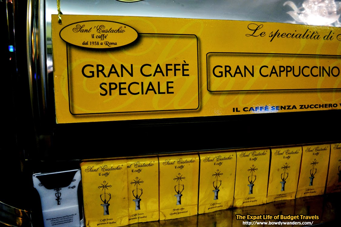 bowdywanders.com Singapore Travel Blog Philippines Photo :: Italy :: The Best Coffee in the World: Sant'Eustachio il Caffe in Rome