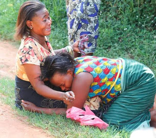 Photos: Young Woman Found Murdered In Wakiso District, In Uganda.