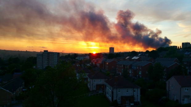Three youths arrested over huge Bramley fire visible across Leeds