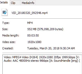 File video FUll HD