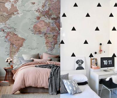 inspiração, inspirar, decoração, decorar, quarto, papel de parede,