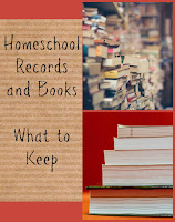 Homeschool Records and Books - What to Keep (The Homeschool Post) on Homeschool Coffee Break @ kympossibleblog.blogspot.com - Making decisions about what to keep for homeschool records, completed work, and used curriculum