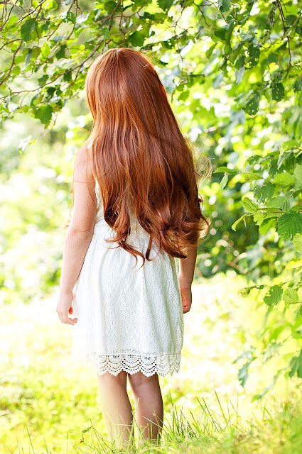 red haired girl shiny hair