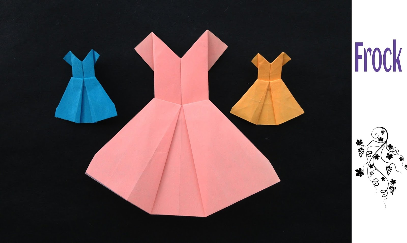 Origami dress how to make origami dresses origami for How to display a wedding dress