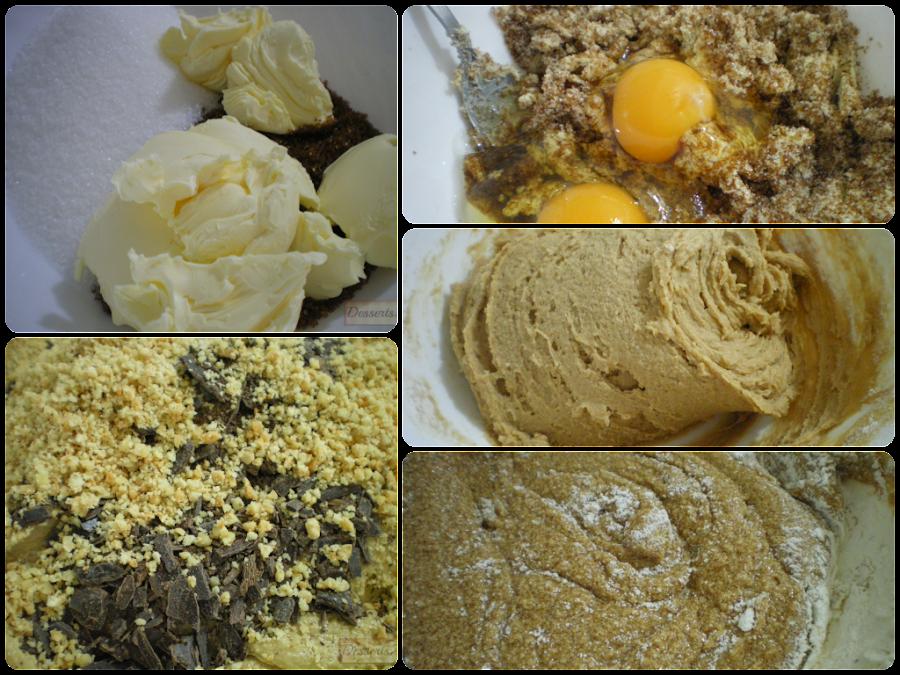 Cookies de menta y chocolate (Elaboración)