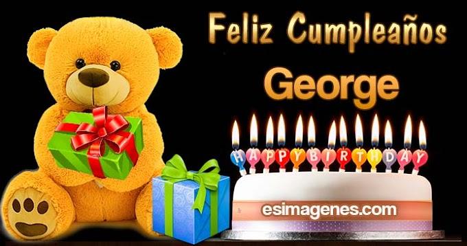 Feliz Cumpleaños George