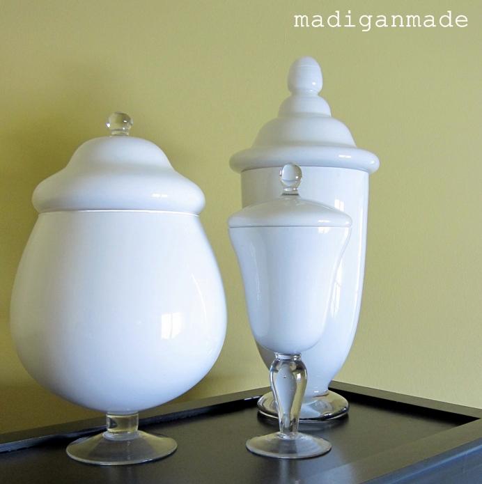 apothecary jars diy painted glass milk vases jar milkglass suggest