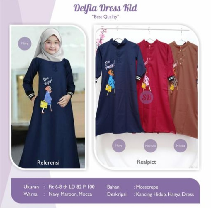 Jual Delfia dress kid