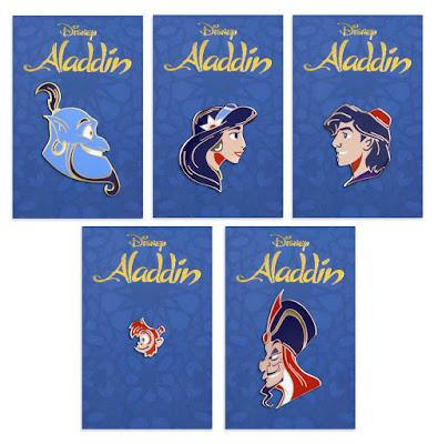 Disney's Aladdin Portrait Enamel Pins by Matt Taylor x Mondo