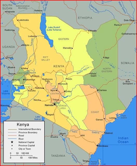 Gambar Peta Kenya