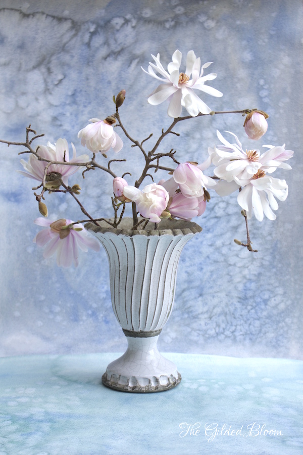 Blooms and Branches:  Star Magnolia Arrangement - www.gildedbloom.com