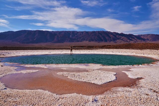 Di muito feliz nas Lagunas Escondidas - Atacama