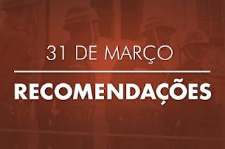 MPF recomenda a comandos militares em todo o Brasil que se abstenham de comemorações ao golpe de Estado de 1964