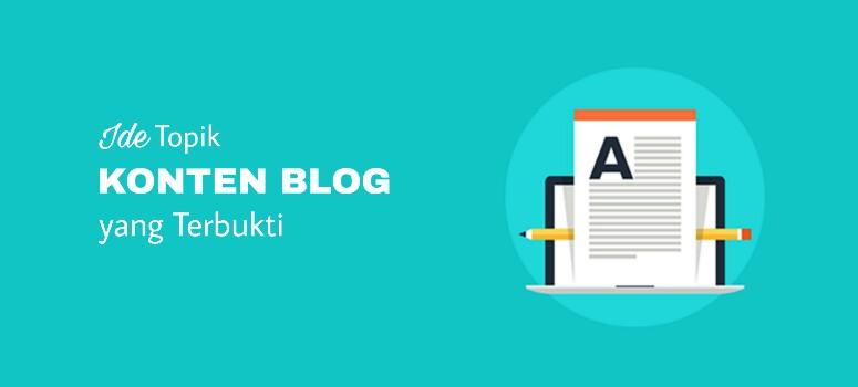 Ide Untuk Konten Blog