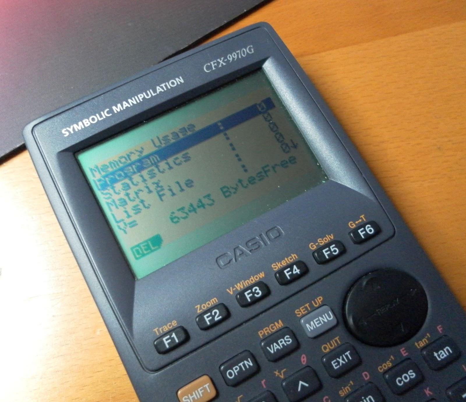 Casio Cfx 9970g