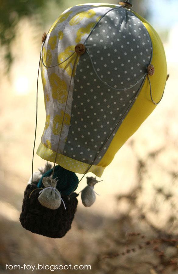 fabric hot air balloon