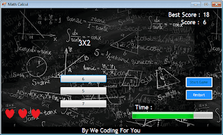 Math Game Source Code