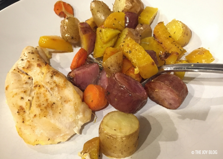 2 Delicious Ways to Eat Golden Beets // Roasted Chicken & Root Veggies // www.thejoyblog.net