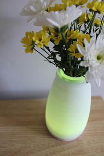 yellow light up vase