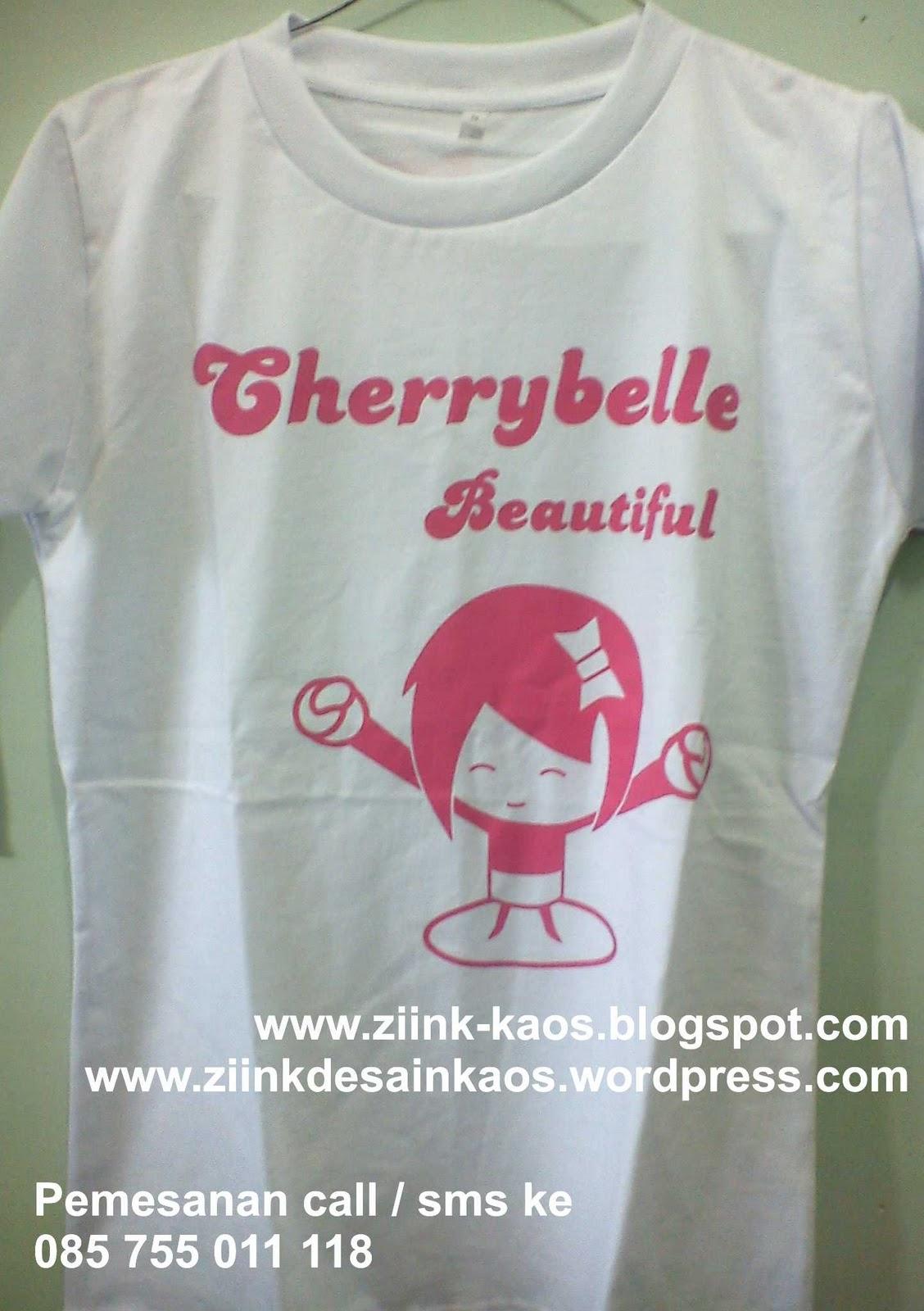 Ziink Kaos Online Kaos Lucu Cherry Belle ChiBi Kaos Online