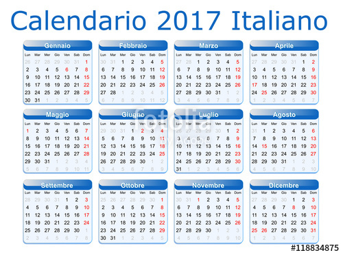 calendario 2017 italiano
