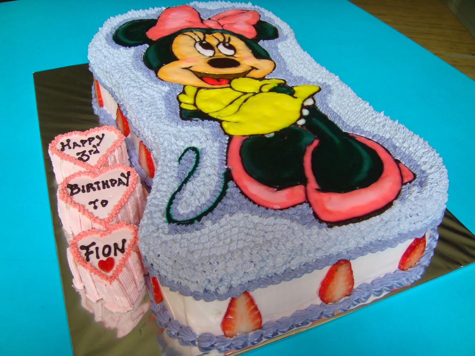 Yummy Baking Minnie Mouse Fresh Cream Cake D1